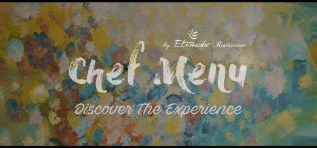 chef menu Etxanobe restaurant by Xabier Elkorobarrutia ( Txabi )